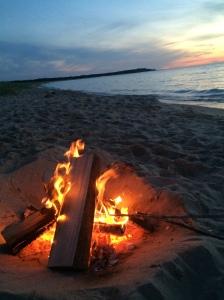 Sunset on Lake Michigan near Empire